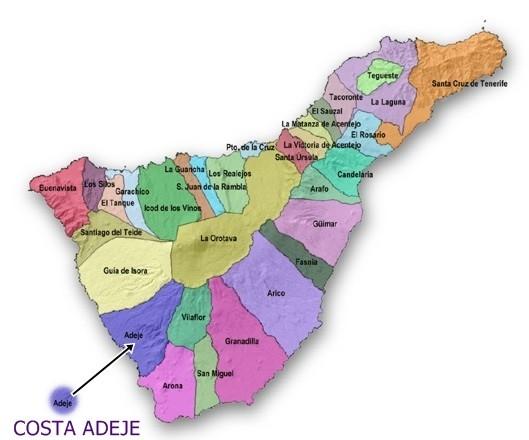 mapa de Costa Adeje