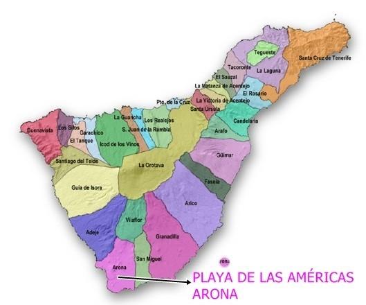 MAPA DE PLAYA DE LAS AMERICAS ARONA