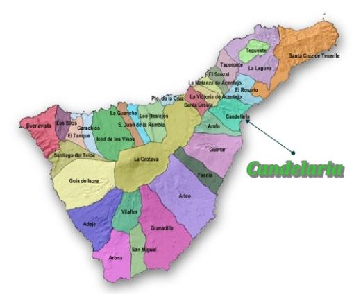 Mapa por municipios, Candelaria