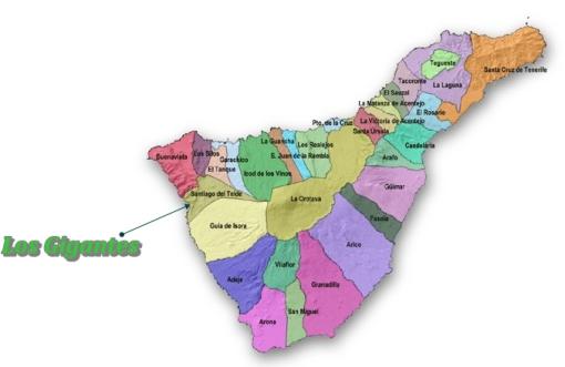 Mapa por municipios Santiago del Teide