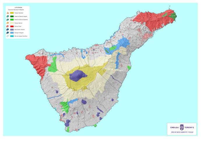 Espacios naturales protegidos en Tenerife